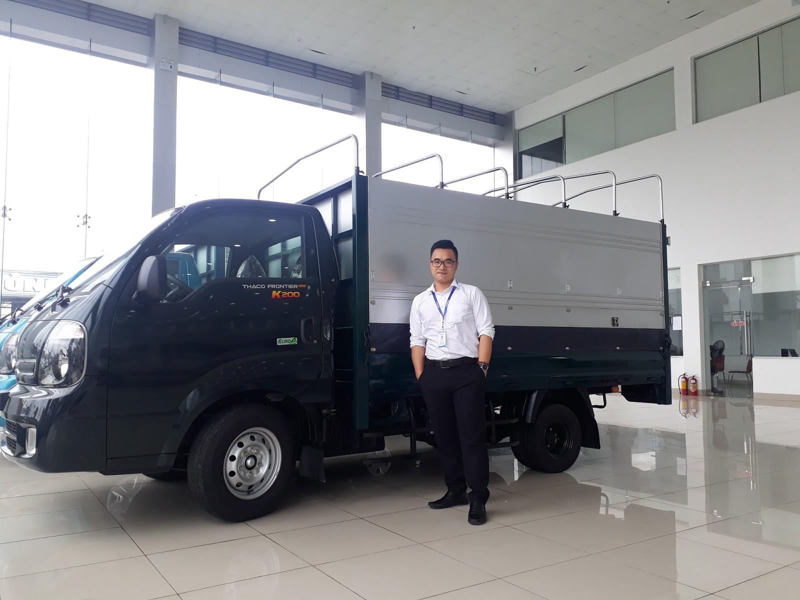 Xe tải Hyundai 1 tấn Thaco K200  tại Hải Phòng tại đại lý xe Trọng Thiện