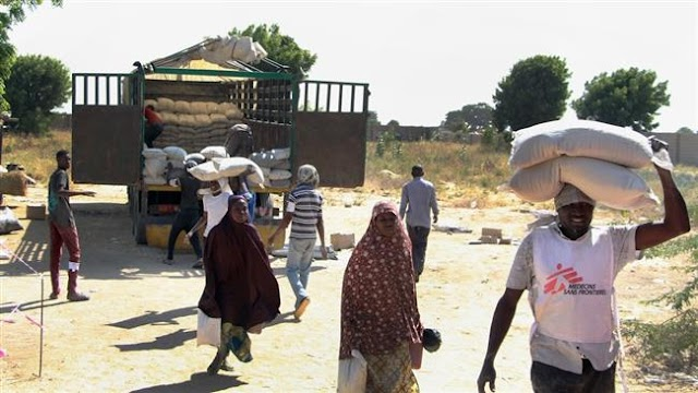 Twenty six thousand displaced families in Nigeria's Borno state received food: MSF