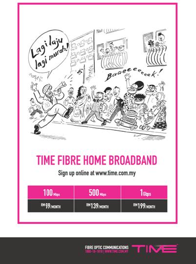 Pelan Internet Home Broadband Laju dan Murah dari TIME