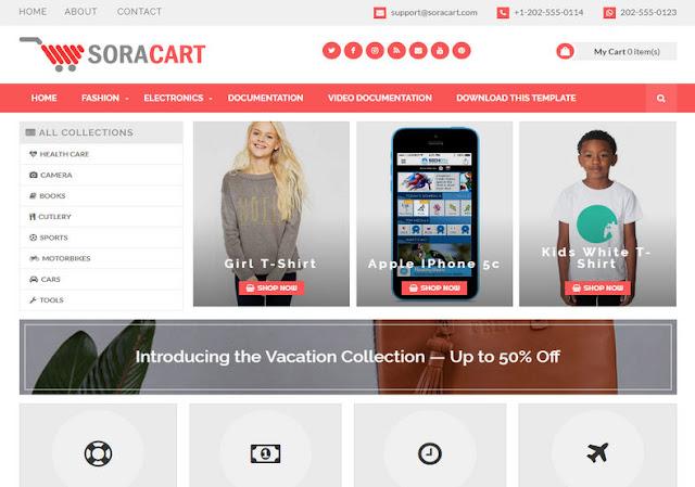 Free download SoraCart Blogger temeplate