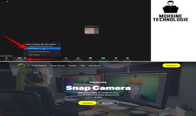 تغيير مصدر الكاميرا