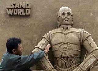 Escultura de arena de Star Wars