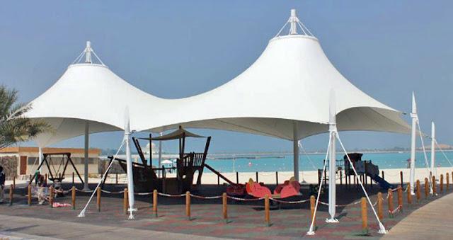 payung membrane pantai