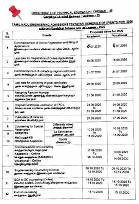 TNEA 2020 | என்ஜினீயரிங் படிப்பில் சேருவதற்கு ஆன்லைன் மூலம் ஆகஸ்டு 16-ந்தேதி வரை விண்ணப்பிக்கலாம் .