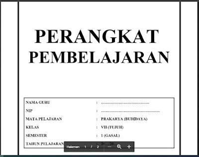 Download Perangkat Pembelajaran Prakarya (Budidaya) Kelas 7 Tahun 2021/2022