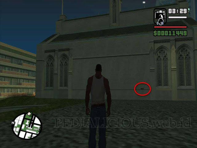 Lokasi Camera (Kamera) di Calton Heights GTA San Andreas