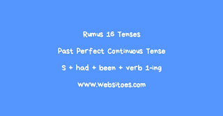 S + Had + Been + Verb 1-ing Past Perfect Continuous Tense