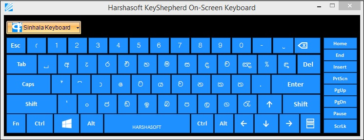 harshasoft keyshepherd sinhala typing