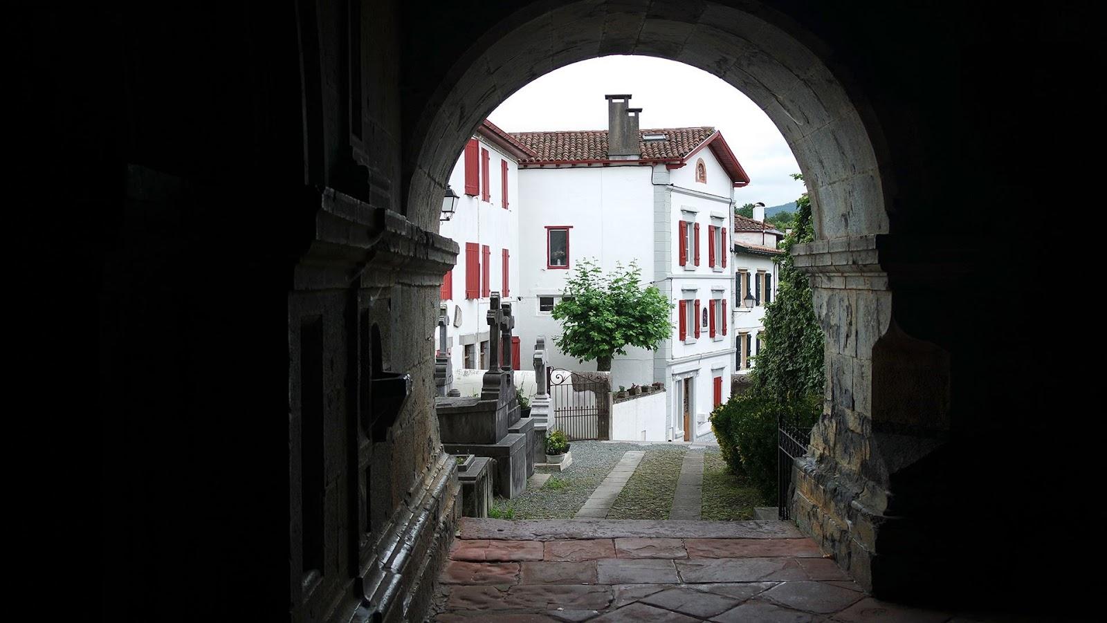 Basque church entrance
