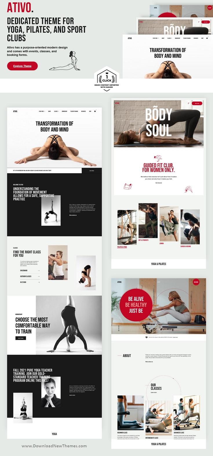 Yoga Pilates WordPress Theme