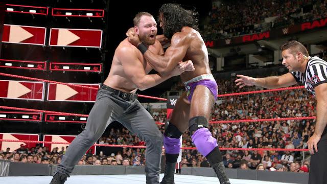 Dean Ambrose def. Jinder Mahal