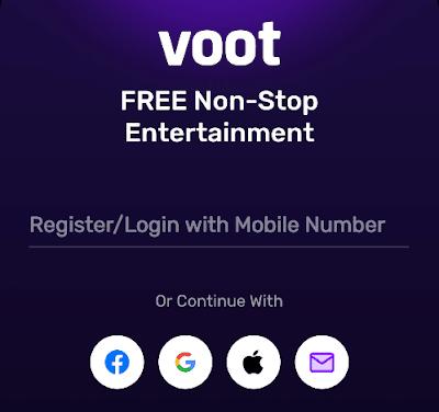 Register on voot app