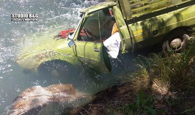 Εντοπίστηκε όχημα μέσα στον Ερασίνο ποταμό στο Κεφαλάρι Αργολίδας