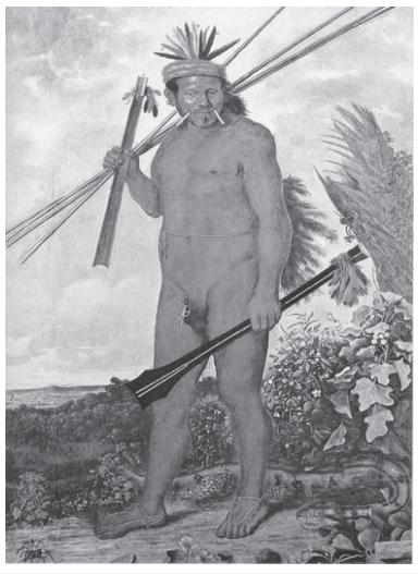 """ECKHOUT, A. """"Índio Tapuia"""" (1610-1666)."""