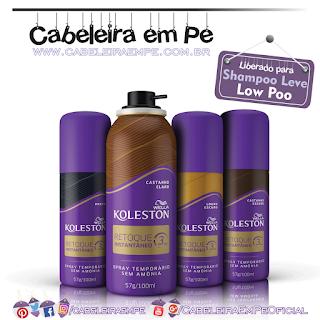 Spray Koleston Retoque Instantâneo Preto, Castanho Escuro, Castanho Claro e Loiro Escuro - Wella (Low Poo)