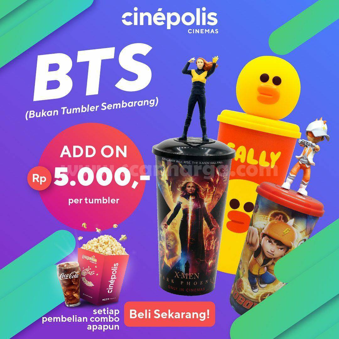 Cinepolis Promo BTS Tumbler Hanya Rp. 5.000