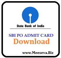 SBI po admit card