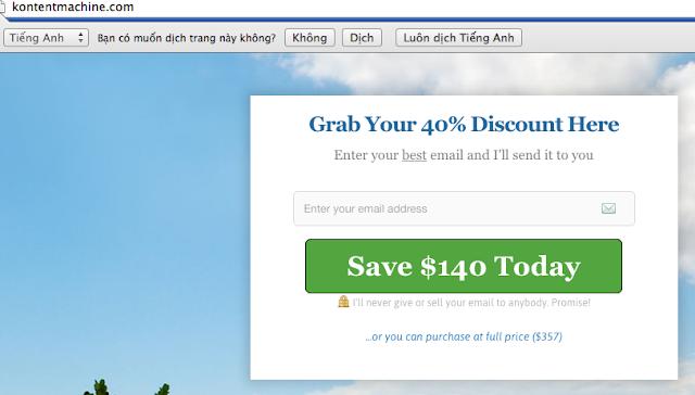 Mua phần mềm kontent machine giảm giá $140