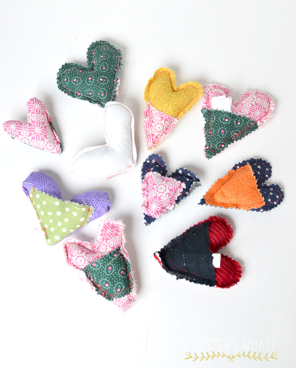 scrap fabric heart tutorial