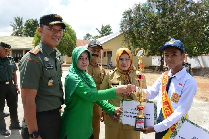 Persit Kartika Chanra kirana Koorcab Rem 141 PD XIV/Hasanuddin, Gelar Lomba Baris Berbaris Tingkat SMP Dan SMA