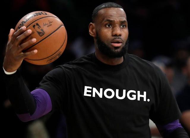 Lebron James ENOUGH shirt.  PYGear.com