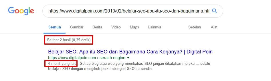 Cara Mengetahui Artikel Blog Terindeks di Halaman Google