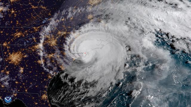 Videos en Vivo del Paso del Huracán Florence por Carolina del Norte