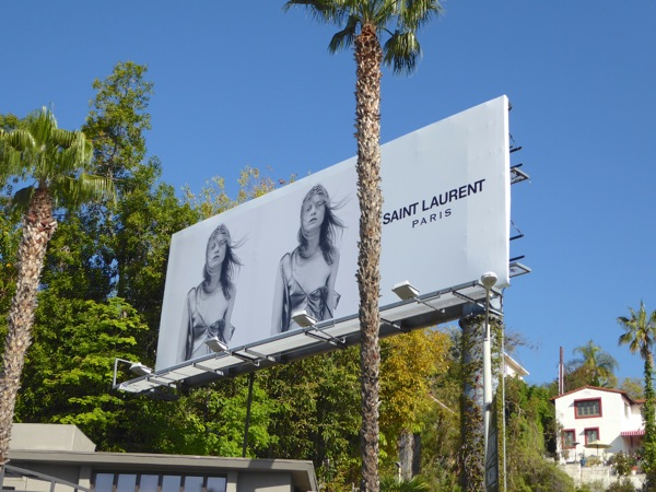 Saint Laurent Paris S16 fashion bilboard