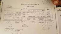 جدول حصص اليوم الدراسى للصف الاول الابتدائي المنهج الجديد 2019