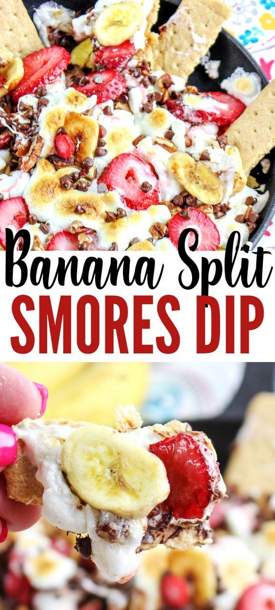 Banana Split Smores Dip Recipe