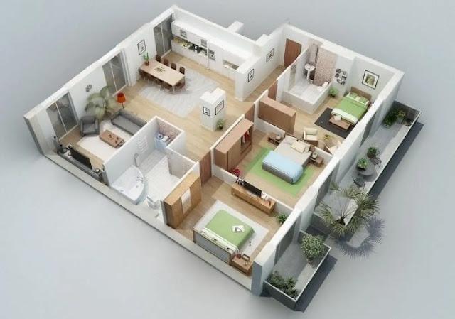 Model Rumah Minimalis Sederhana - Rumah Minimalis Tipe 45