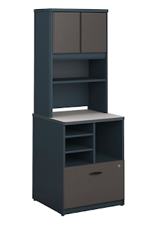 bbf series a storage cabinet with hutch