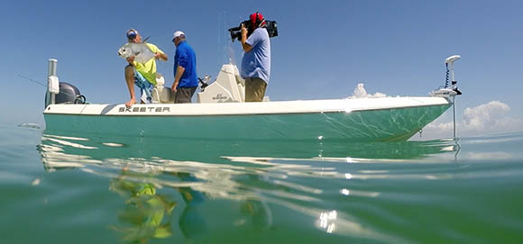 Capt Blair Wiggins Filming in Islamorada
