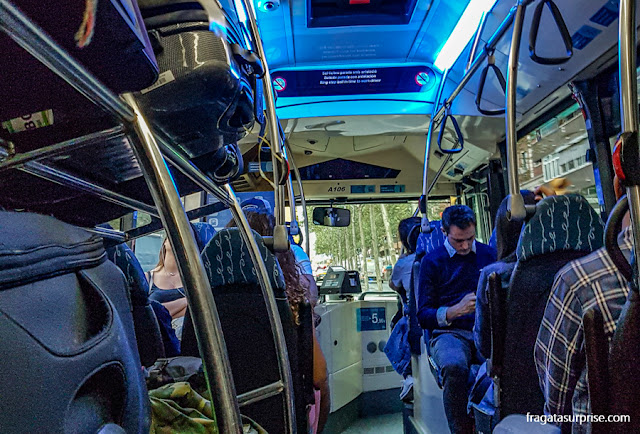 Aerobús - ônibus do aeroporto para o Centro de Barcelona
