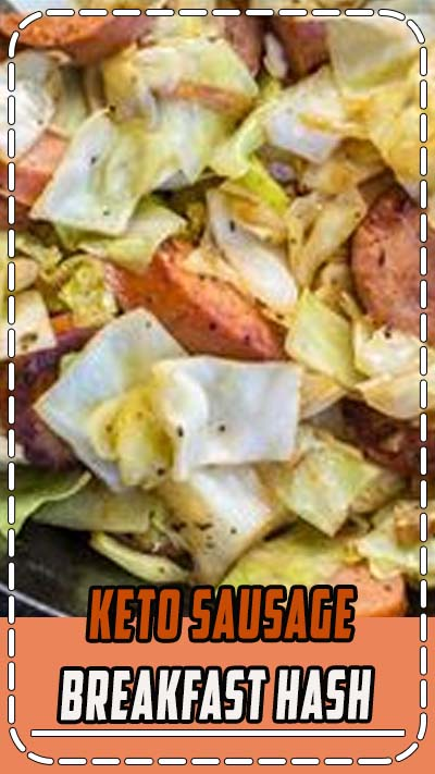 This Keto Sausage and Cabbage Breakfast Hash is an incredibly hearty low carb breakfast! At under 5 net carbs per serving this dish takes similar to a traditional breakfast hash without the carbs! #keto #breakfast