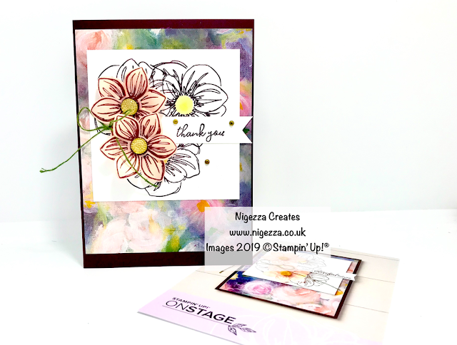 Nigezza Creates, Stampin' Up! Floral Essence Alternative To On Stage Make & Take