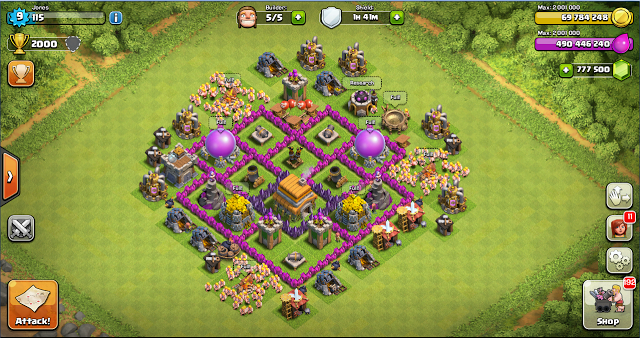 coc, clash of clans, th 6, android, foto, gambar, images