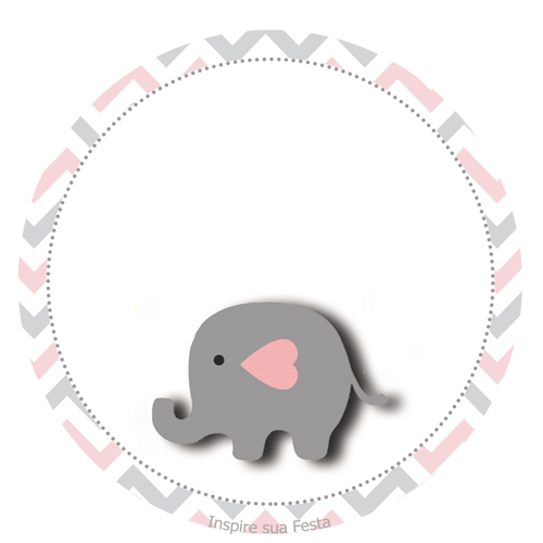 Elefante Bebé en Rosado y Gris: Wrappers y Toppers para Cupcakes ...