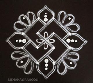 simple dotted rangoli designs