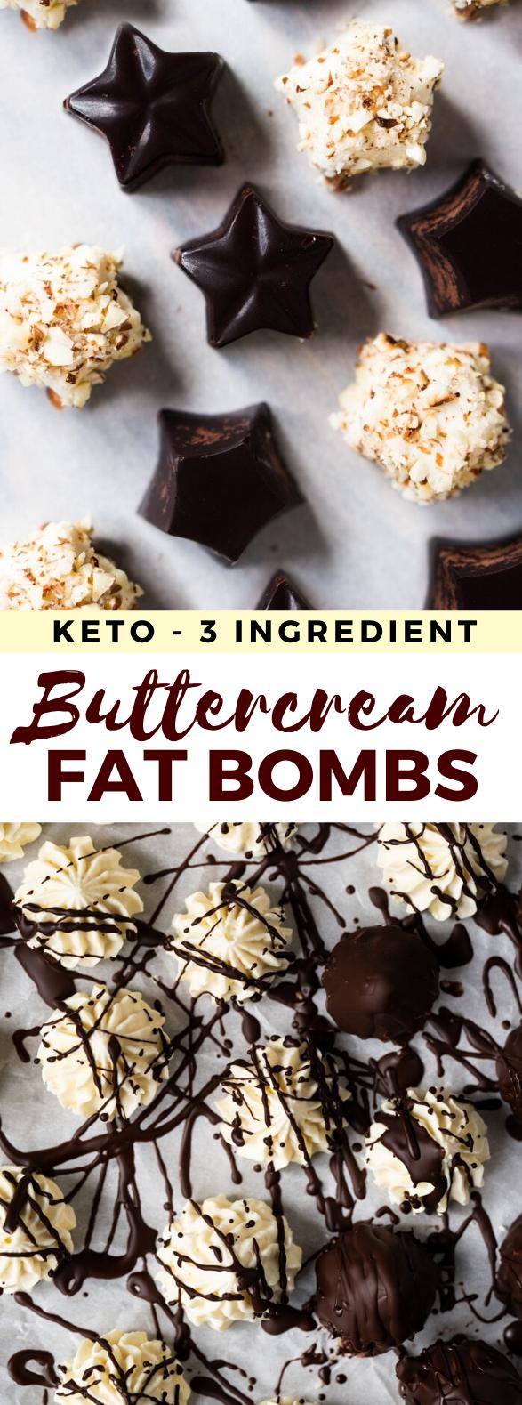 BUTTERCREAM KETO FAT BOMBS #glutenfree #lowcarb