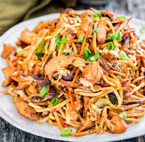 CHICKEN LO MEIN #dinner #asianrecipe