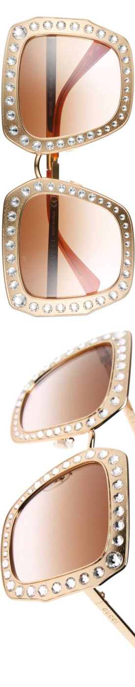 GUCCI  52mm Square Sunglasses