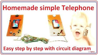 How to make telephone easy at home