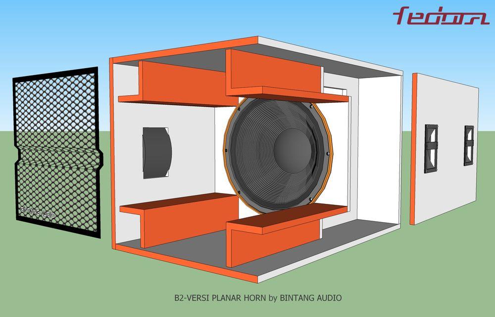 Sisi samping box speaker
