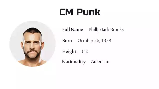 CM Punk Biography History Net Worth And More