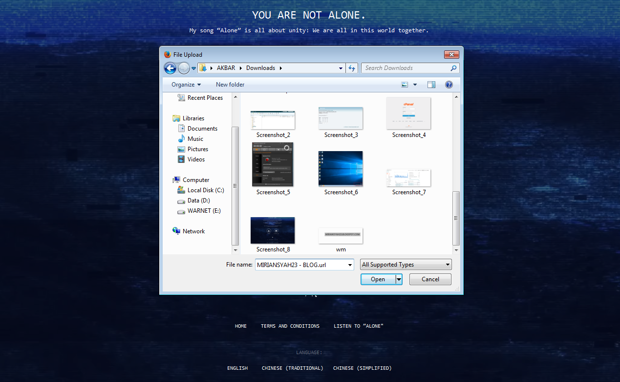 "Cara Membuat Tulisan ""You Are Not Alone"" di Gambar ..."