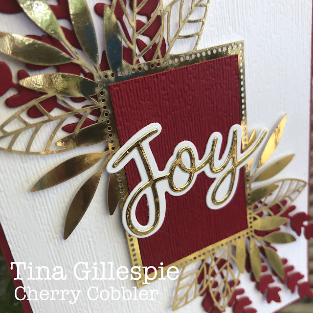 scissorspapercard, Stampin' Up!, Colour Creations, Forever Gold SP, Sunflowers Dies, Joy Dies, Subtle 3DEF, Christmas
