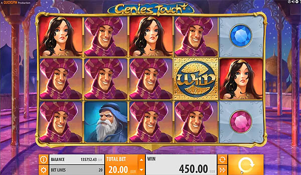 Main Slot Gratis Indonesia - Genies Touch (Quickspin)