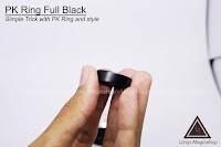 Jual alat sulap PK Ring Full Black