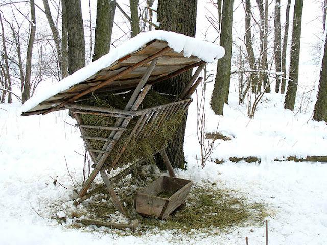 GREAT HUNTING: Zima pro zvěř, Krmelec, Krmítko, Krmeliště černé zvěře-kamer